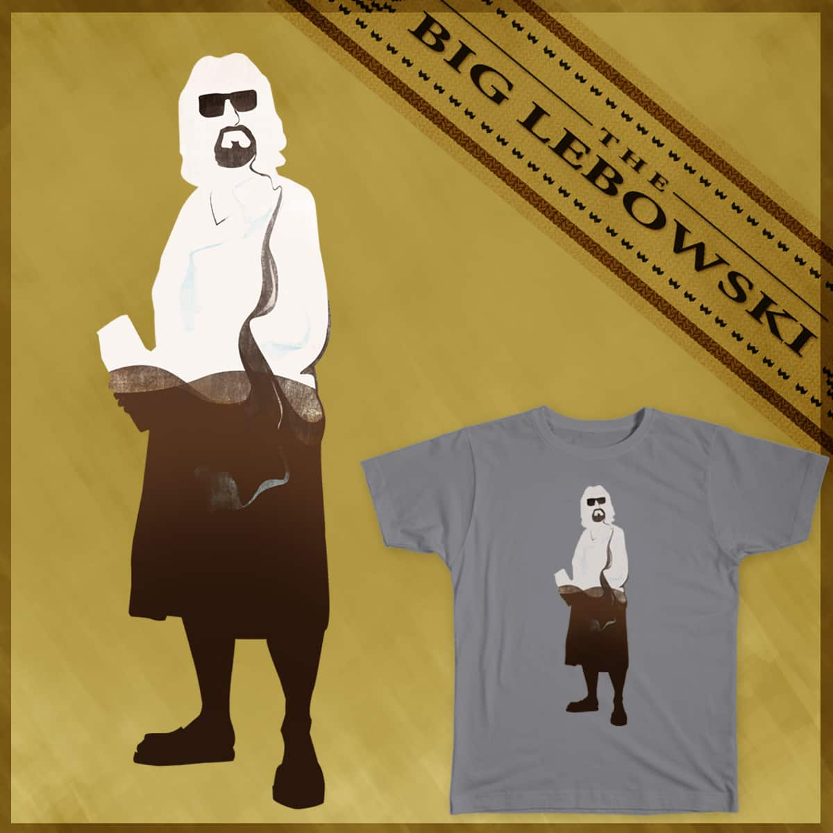 White Russian dude by mirco chen on Threadless
