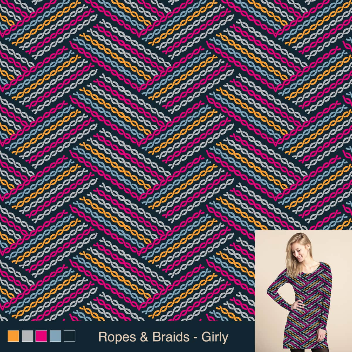 Ropes and Braids (Girly) by rhobdesigns on Threadless