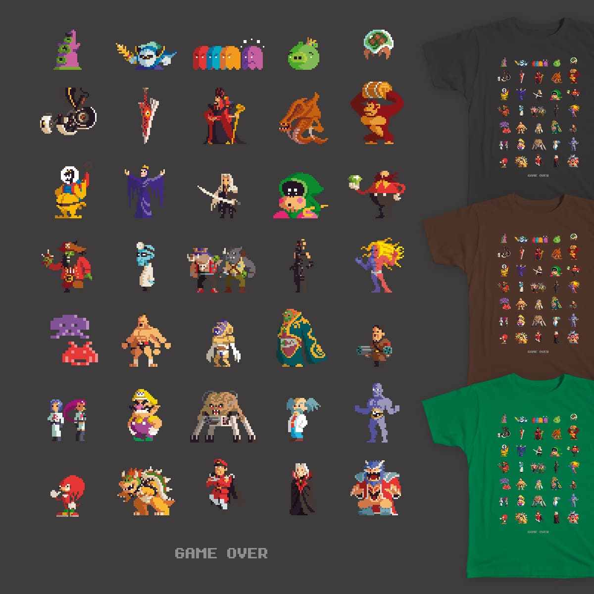 GAME OVER by johanvinet on Threadless