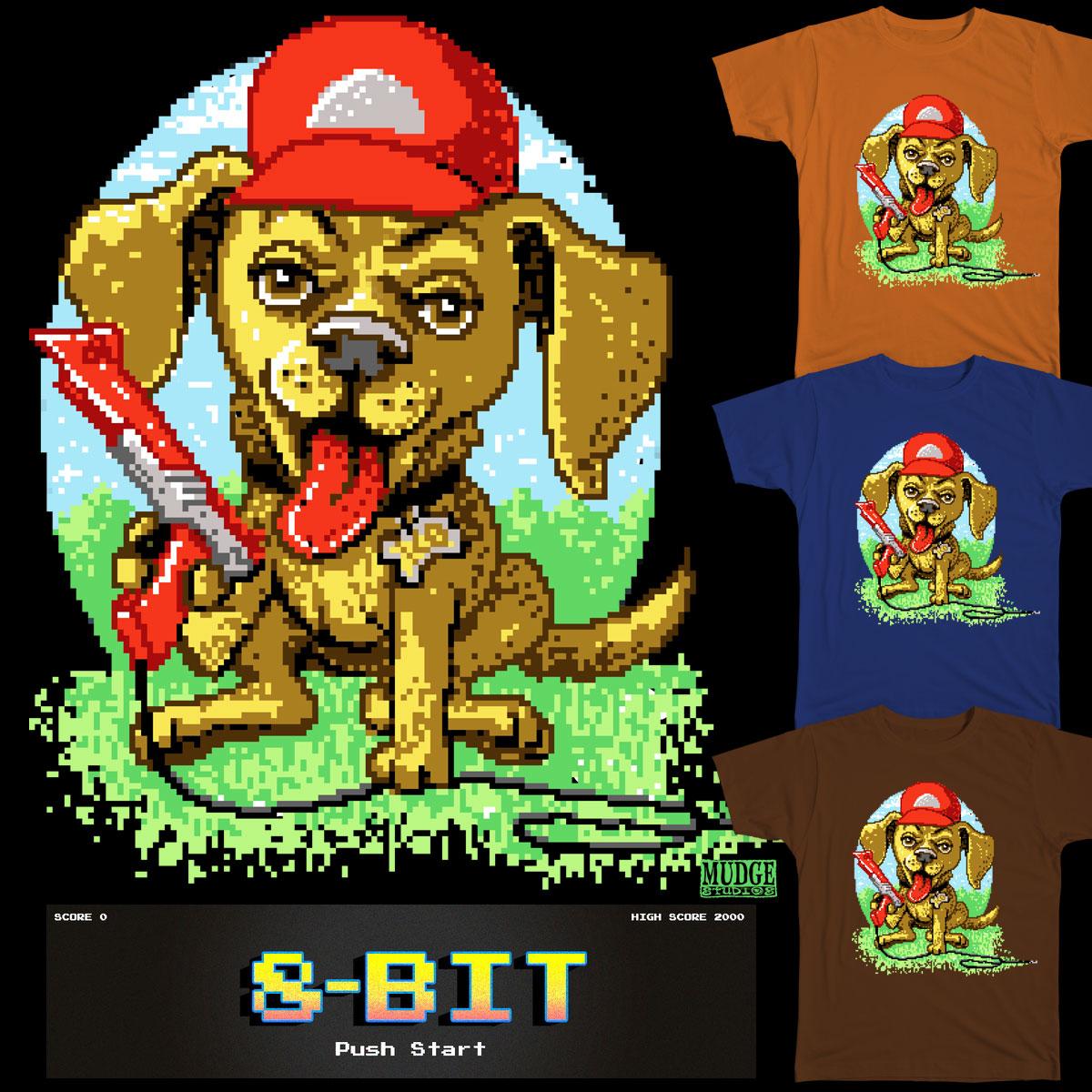 8-Bit Duck Hunting Pup by MudgeStudios on Threadless
