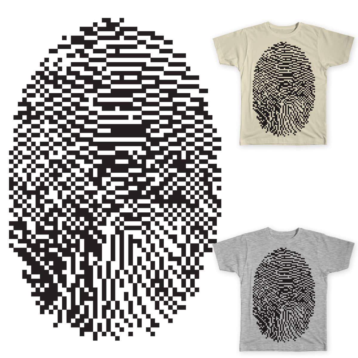 8-bit fingerprint by jpad on Threadless