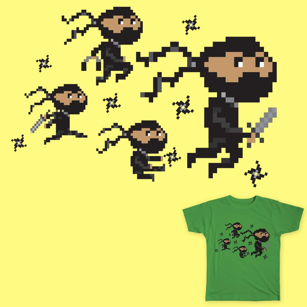 Lil' Ninjas by lillyscorpio on Threadless