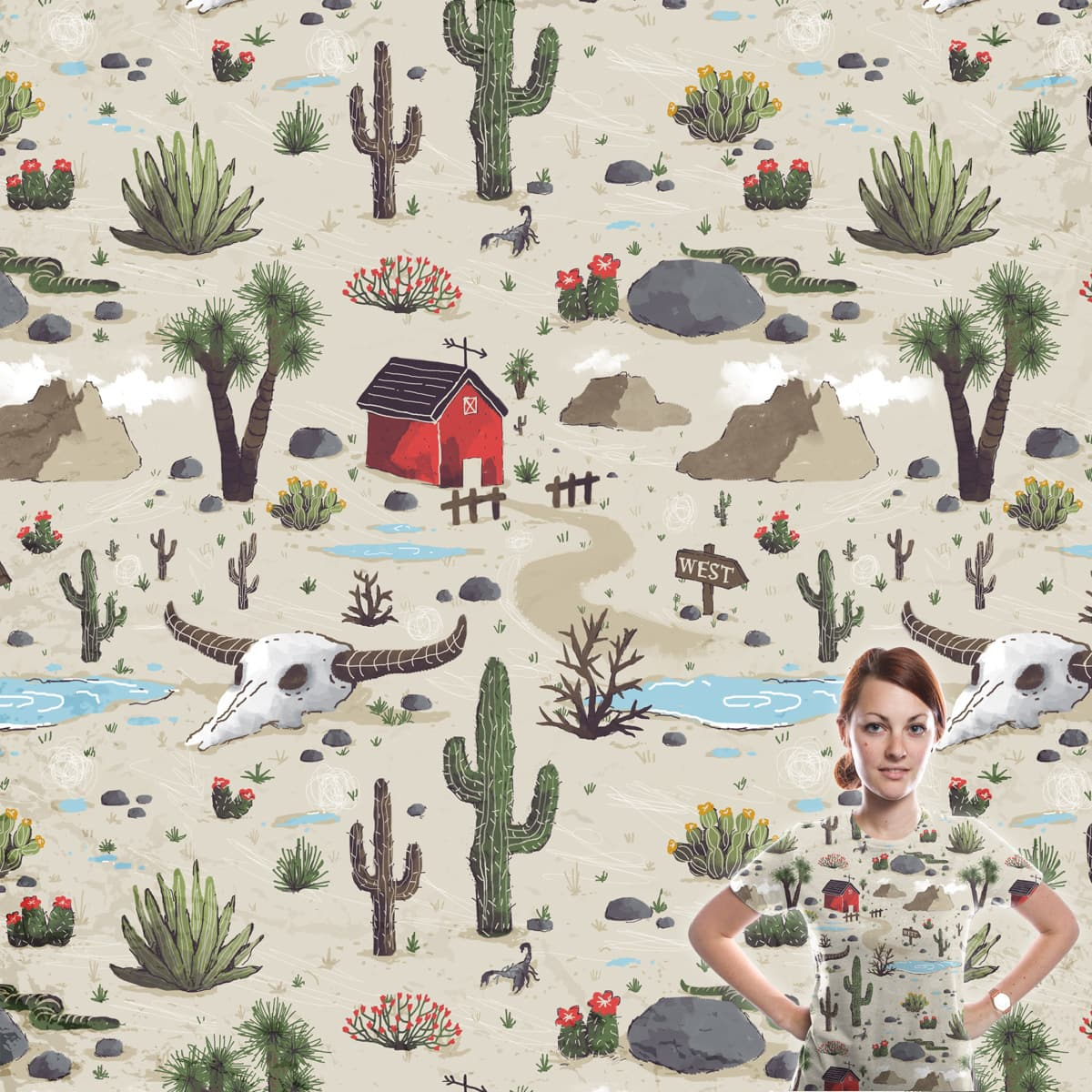 Somewhere in the desert by diekave on Threadless
