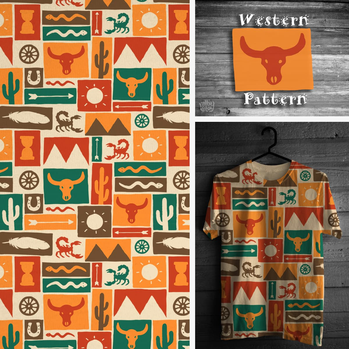 Western Pattern by albyletoy on Threadless