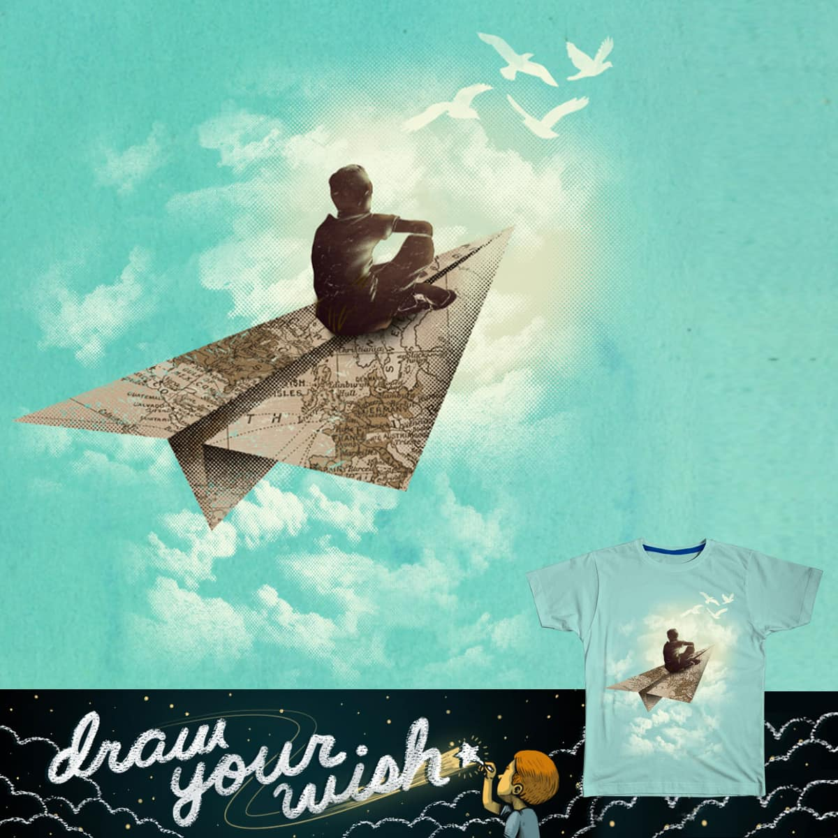 I Wish I Could Fly by dandingeroz on Threadless