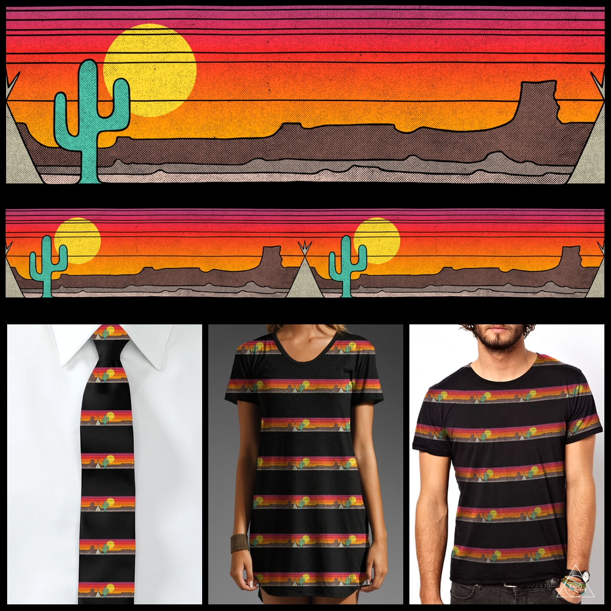 Western Sunset by expo on Threadless