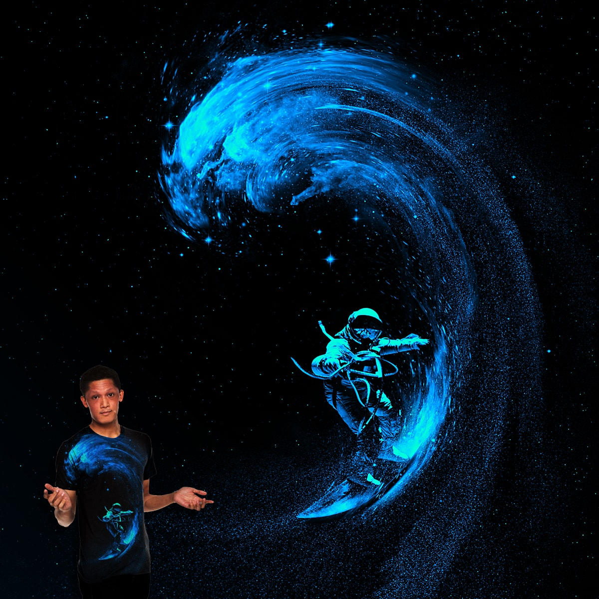 Space Surfing by nicebleed on Threadless