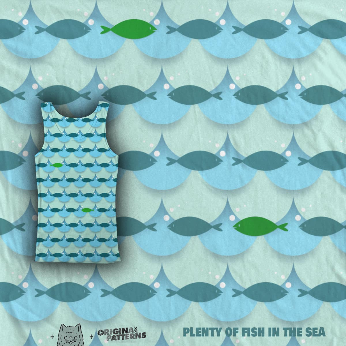 plenty of fish in the sea  by chuckpcomics on Threadless