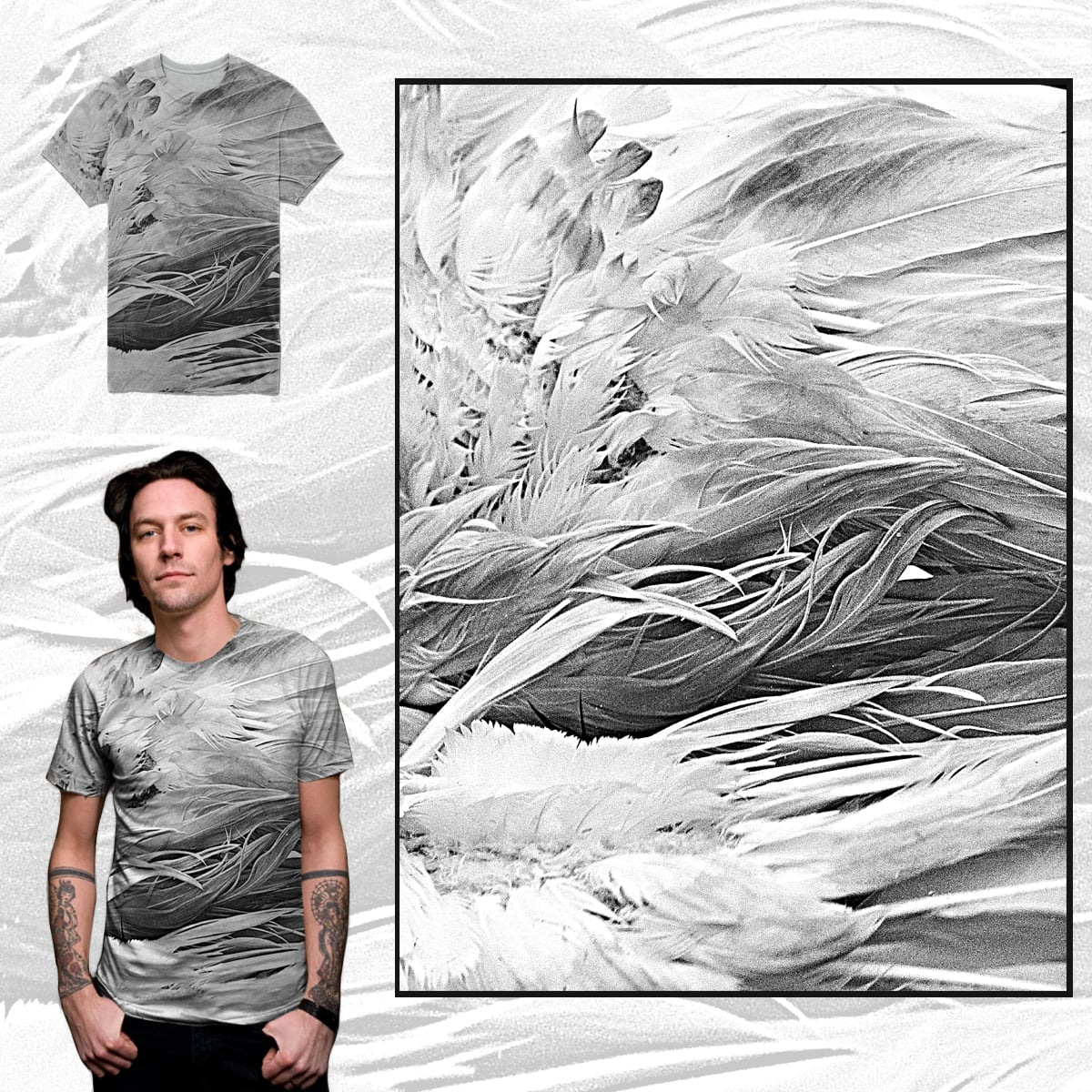 Goose feathers by barmalisiRTB on Threadless