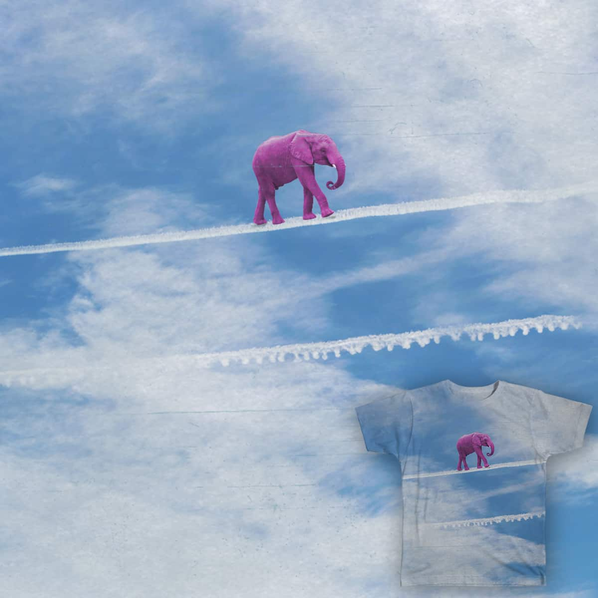 Look out! Pink elephant on parade!  by iamneme on Threadless