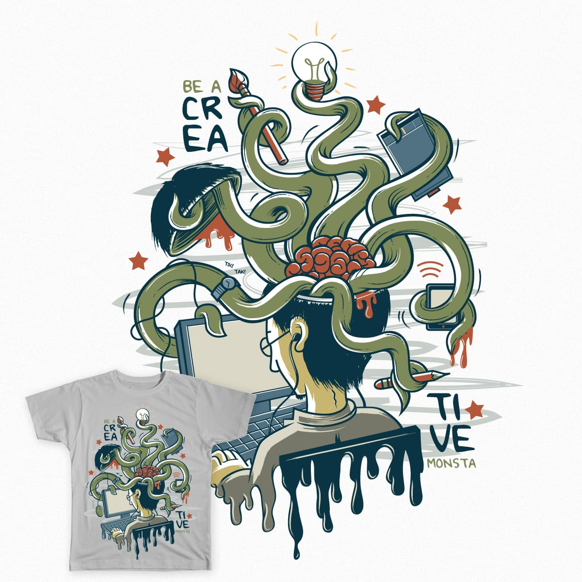 Creative Monsta by AgaOchoco on Threadless
