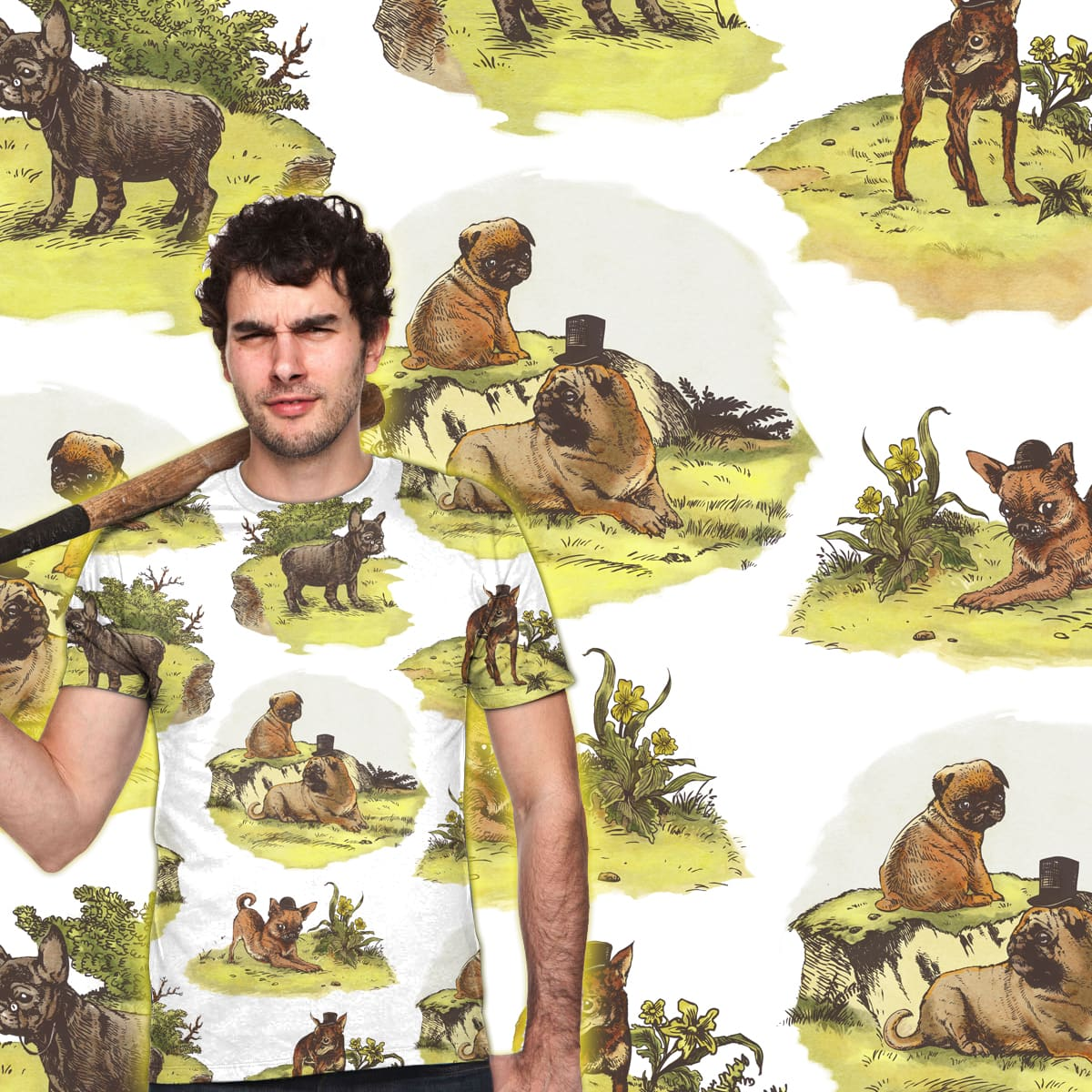 Vintage Dogs by huebucket on Threadless