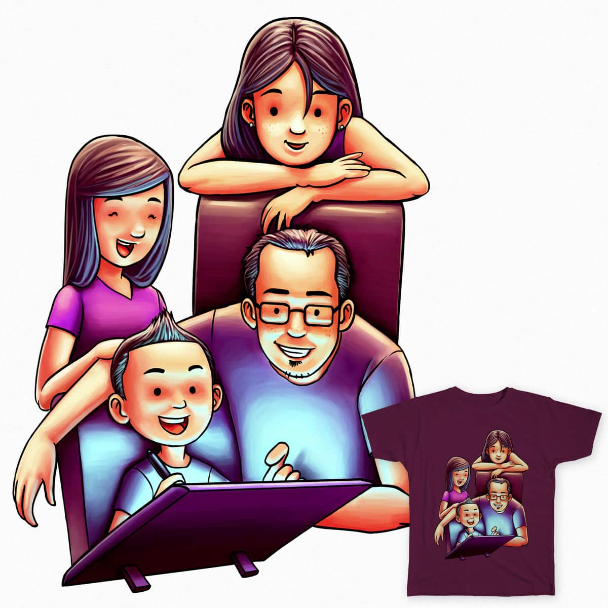 Family Drawing Time by rezahales on Threadless