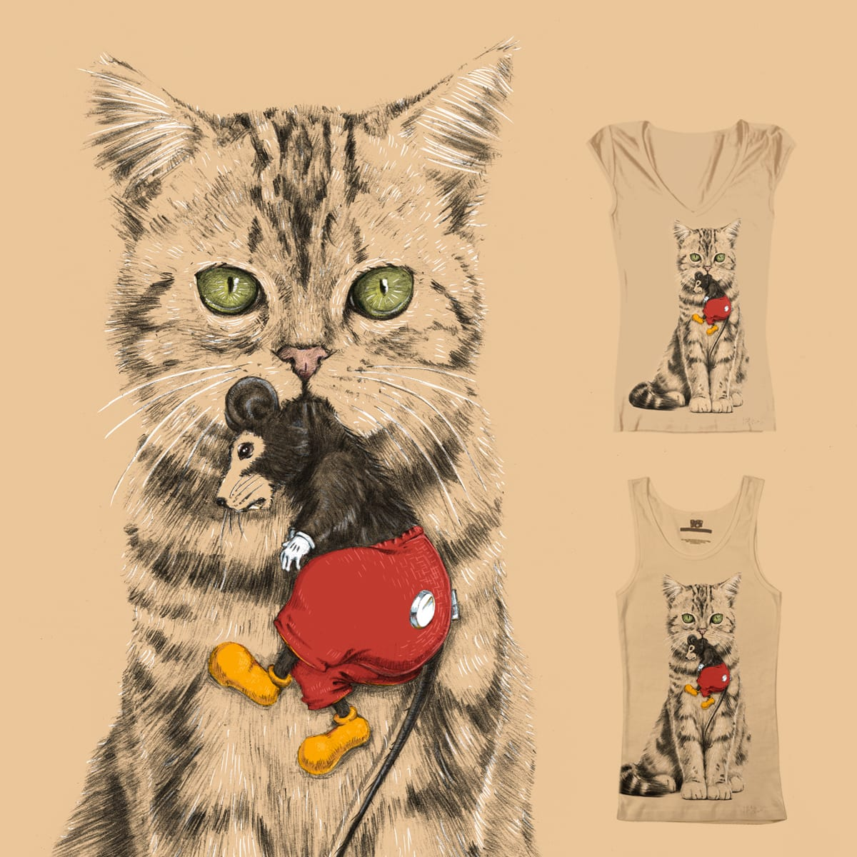 Mickey and the Mouse by ZWET on Threadless