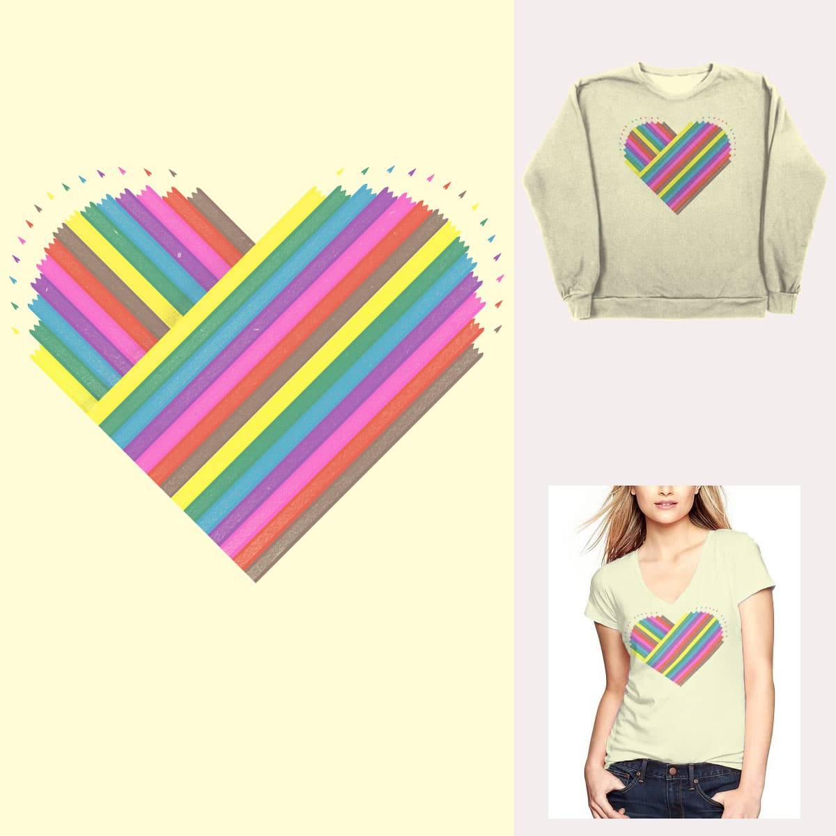 colored pencil love by dampa on Threadless