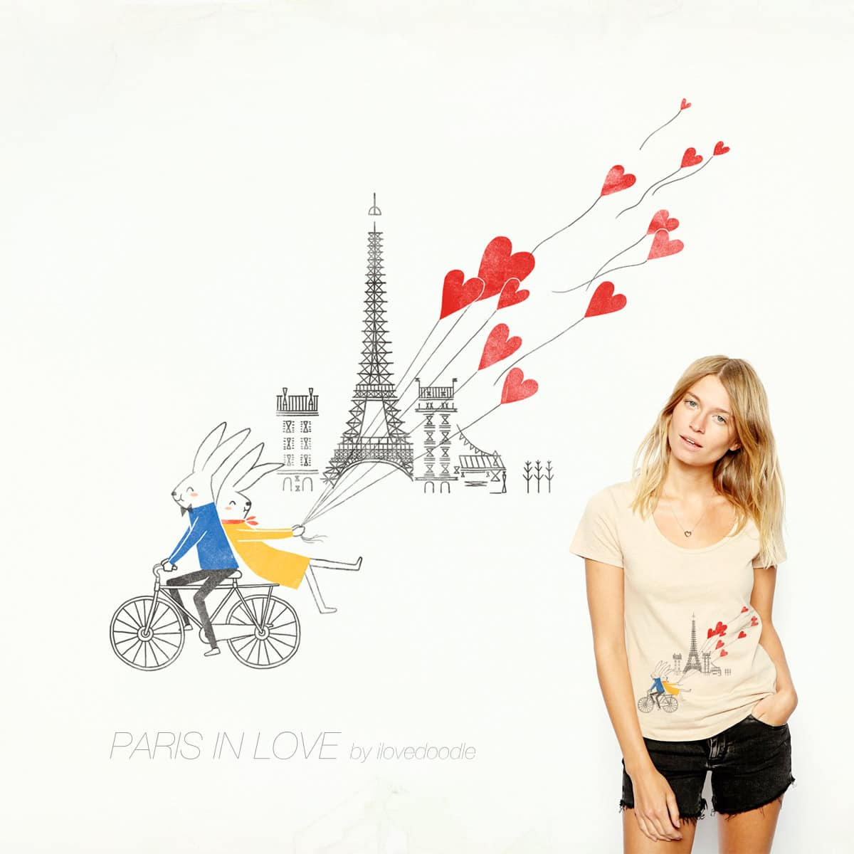 Paris in love by ilovedoodle on Threadless