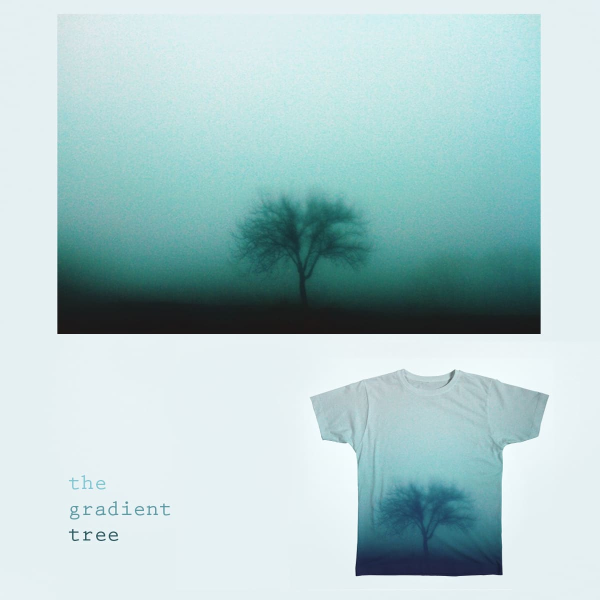 The gradient tree by feliciasimion_1 on Threadless