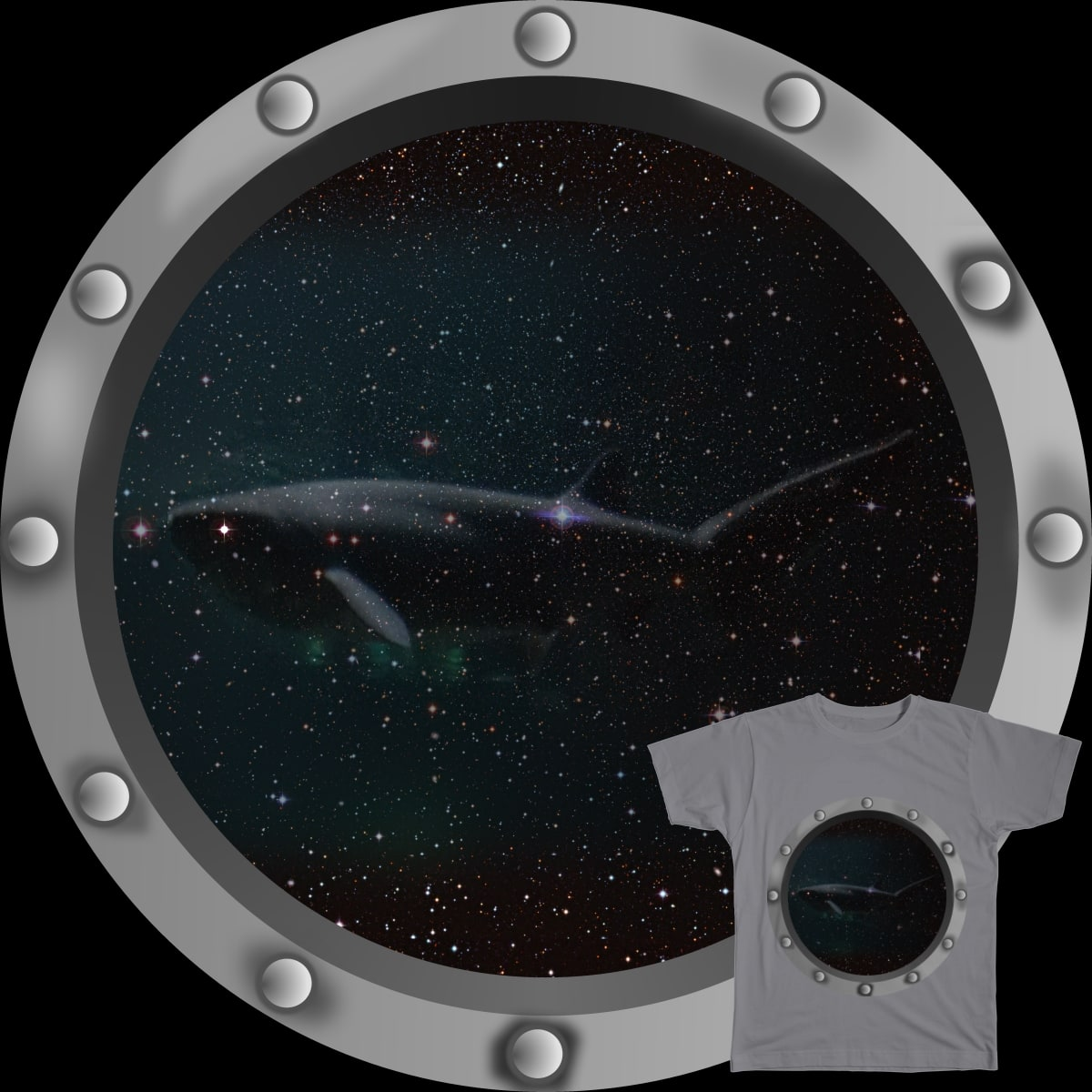 Megalodons Can Still be Seen in Space by lynvie on Threadless