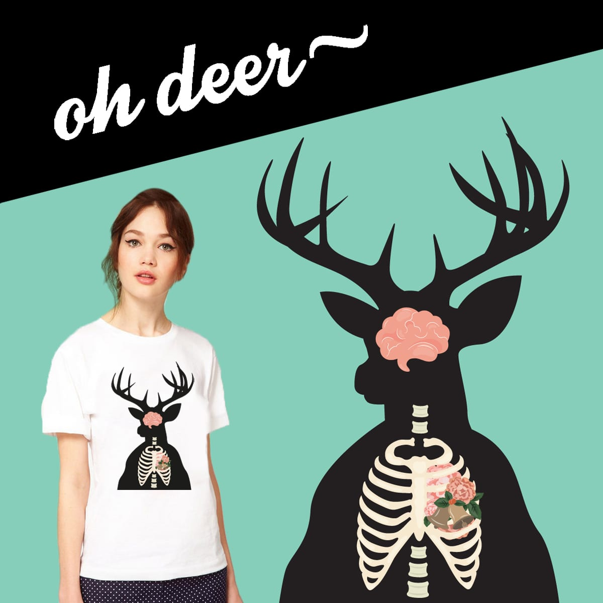 Oh Deer by ultraaviolets on Threadless