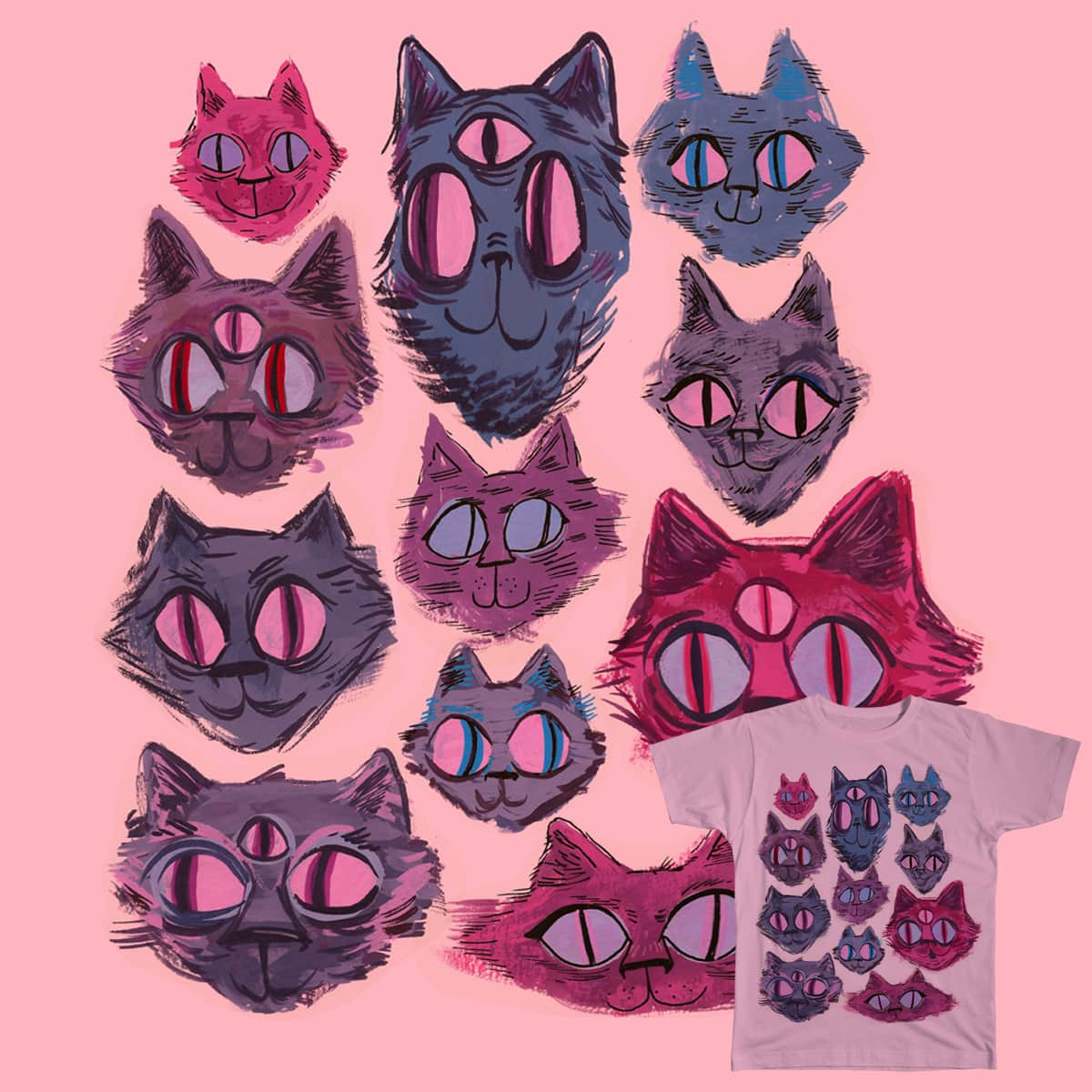 Pass the Catnip  by kristerpelly on Threadless
