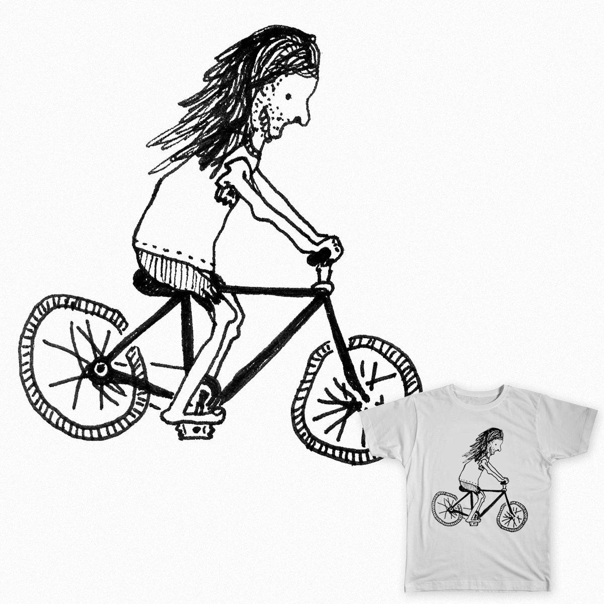 Ride Your Bike by merkinspurlock on Threadless