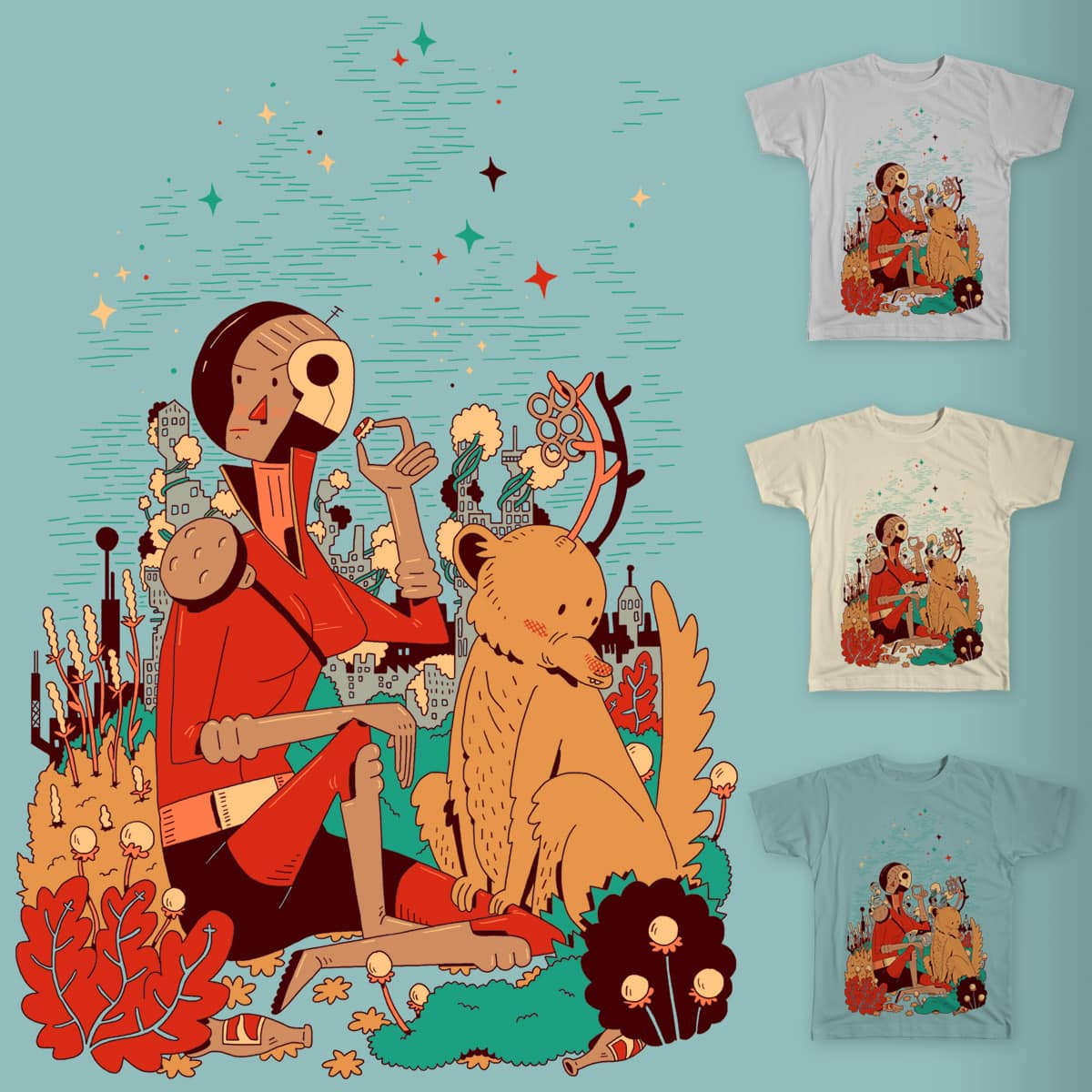 Overgrowth Explorer by BurritoGoblin on Threadless