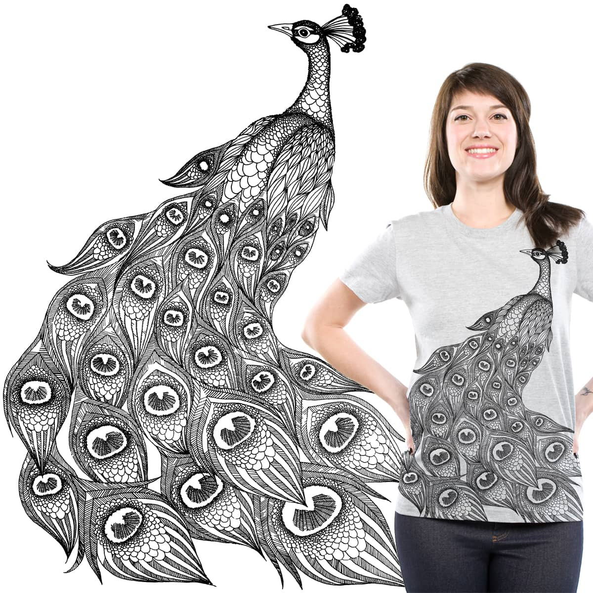 Peacock by J_Kiss on Threadless