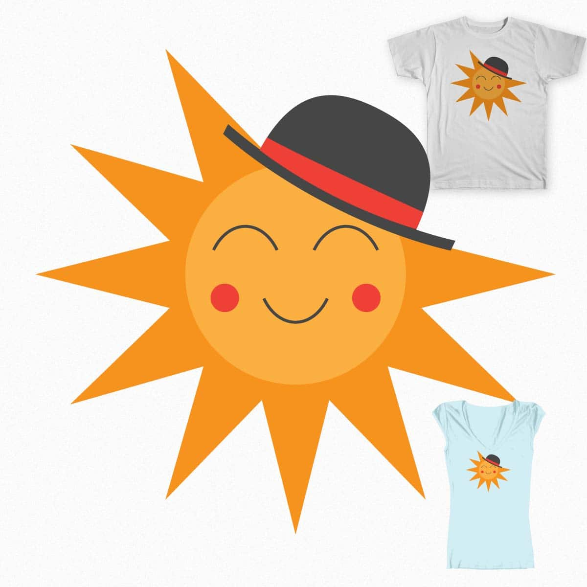 The Sun Has Got It's Hat On by danjit on Threadless