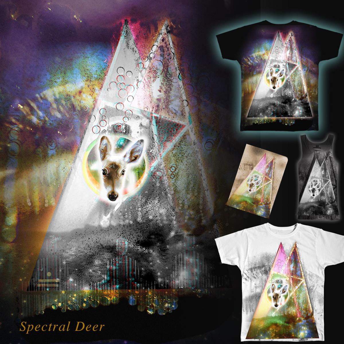 Spectral Deer by iChiTreeSign on Threadless
