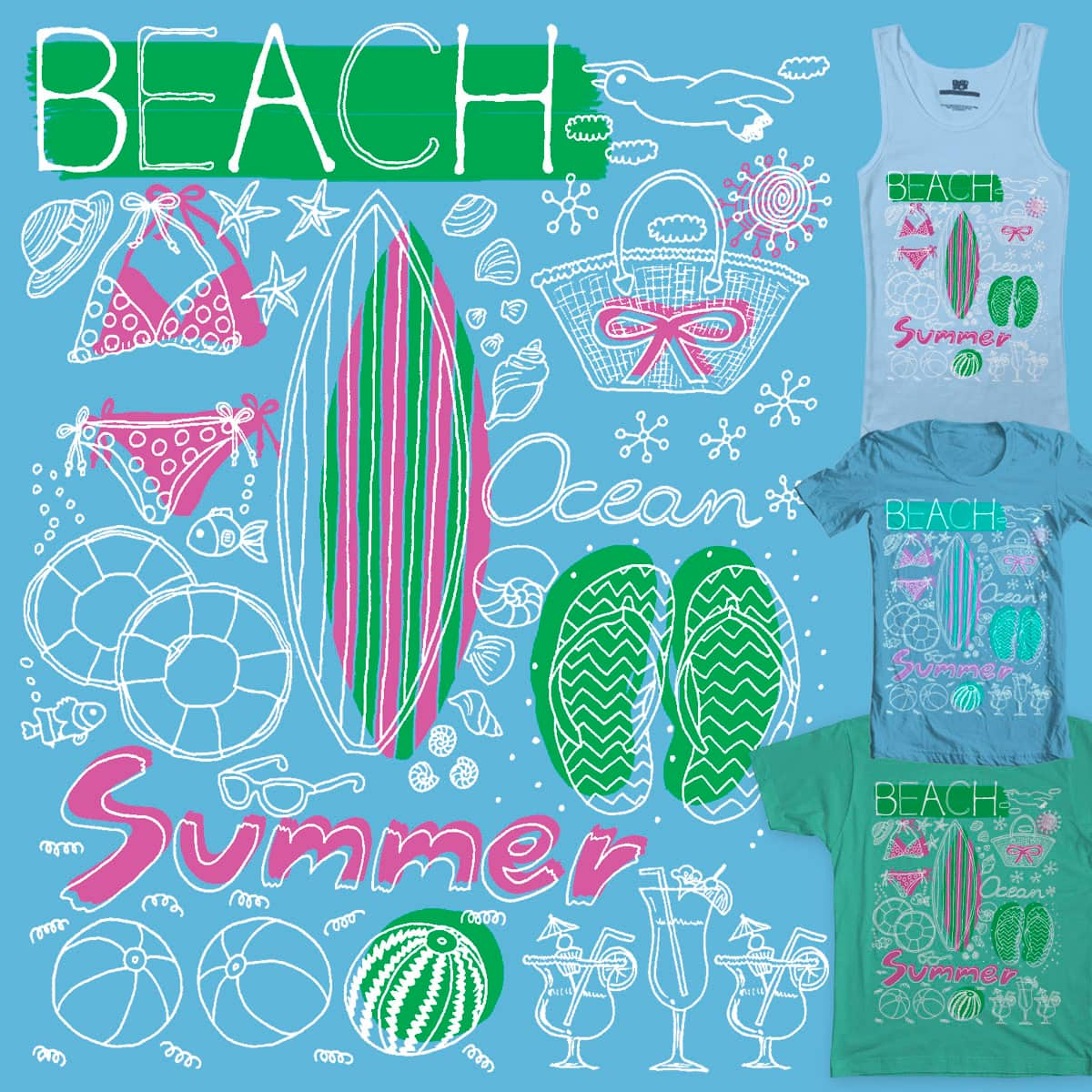 Things to do this summer by mintkirai on Threadless