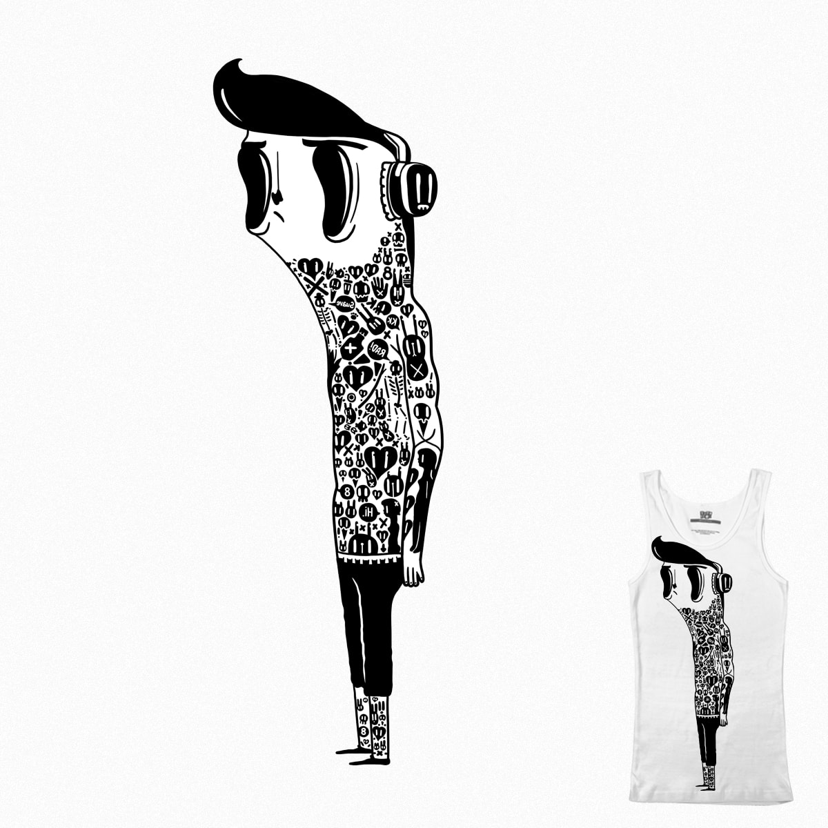 Tattoo guy by Radletimtam on Threadless