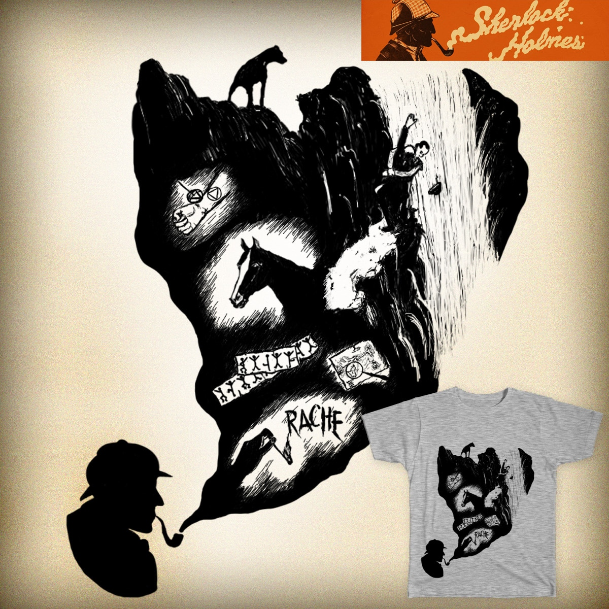 The Adventures of Sherlock Holmes by Linhan on Threadless