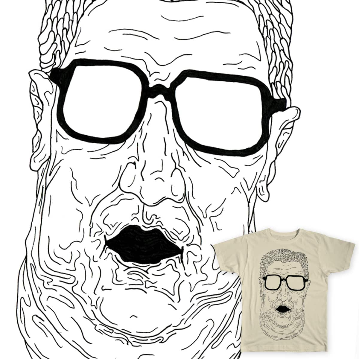 Guy with glasses by AdiBoro on Threadless