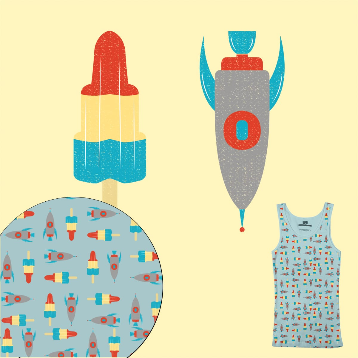 Rockets by Lugge on Threadless