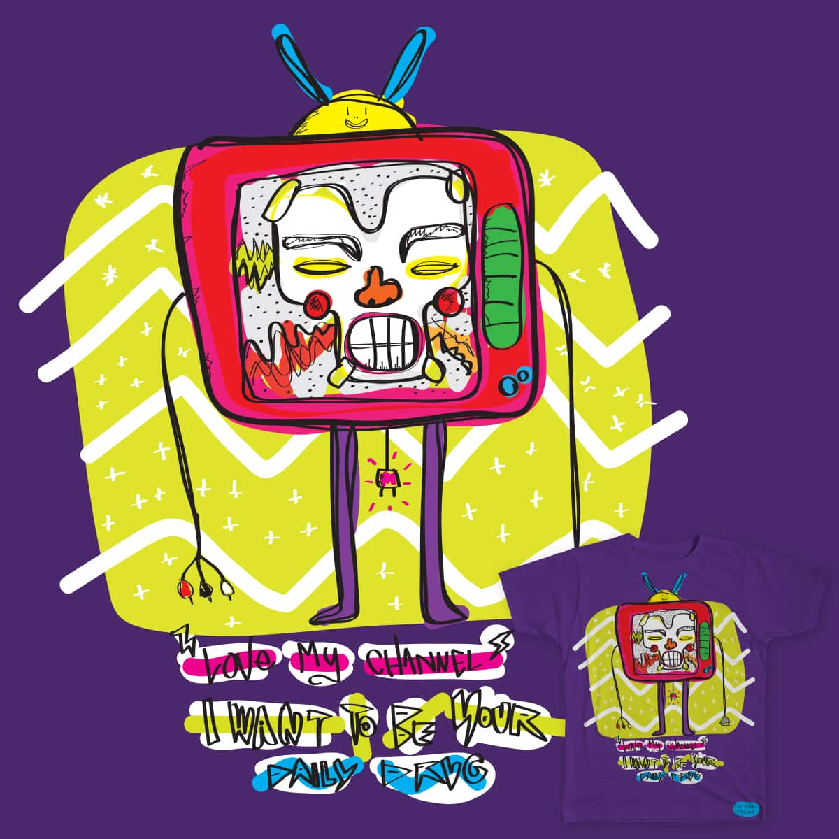 Love my Channel by lepetitmutant on Threadless