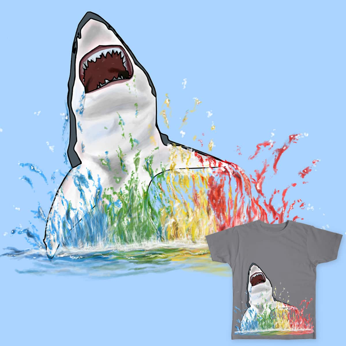 Rainbow Splash by ungsarthur on Threadless