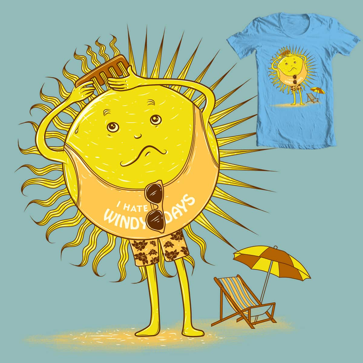 I hate Windy Days :) by Theliboy on Threadless