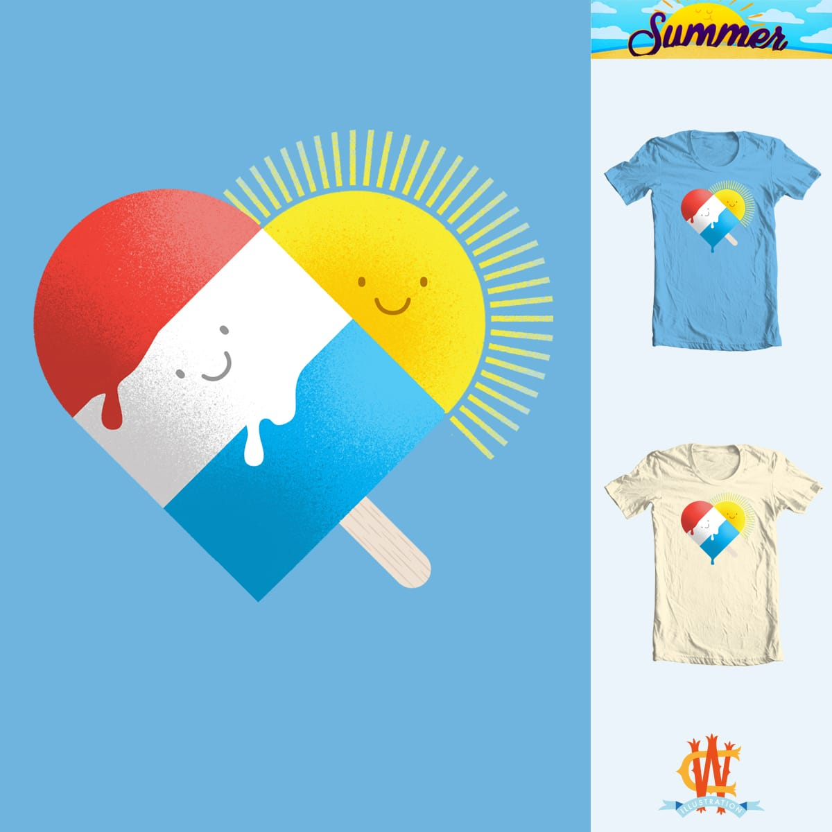 Summer Love scoring over by Wharton on Threadless
