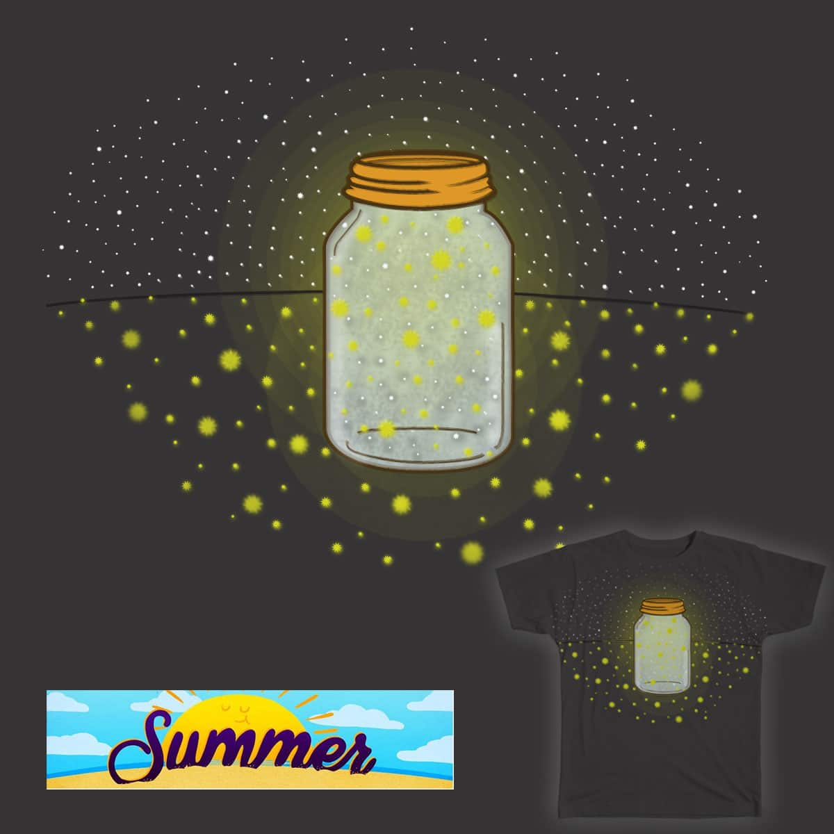 Country Summer Nights by dhrdesign on Threadless