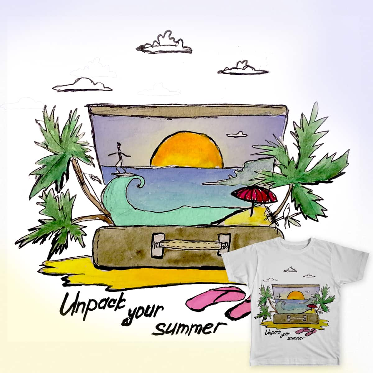 Unpack your summer by VenturousMind on Threadless