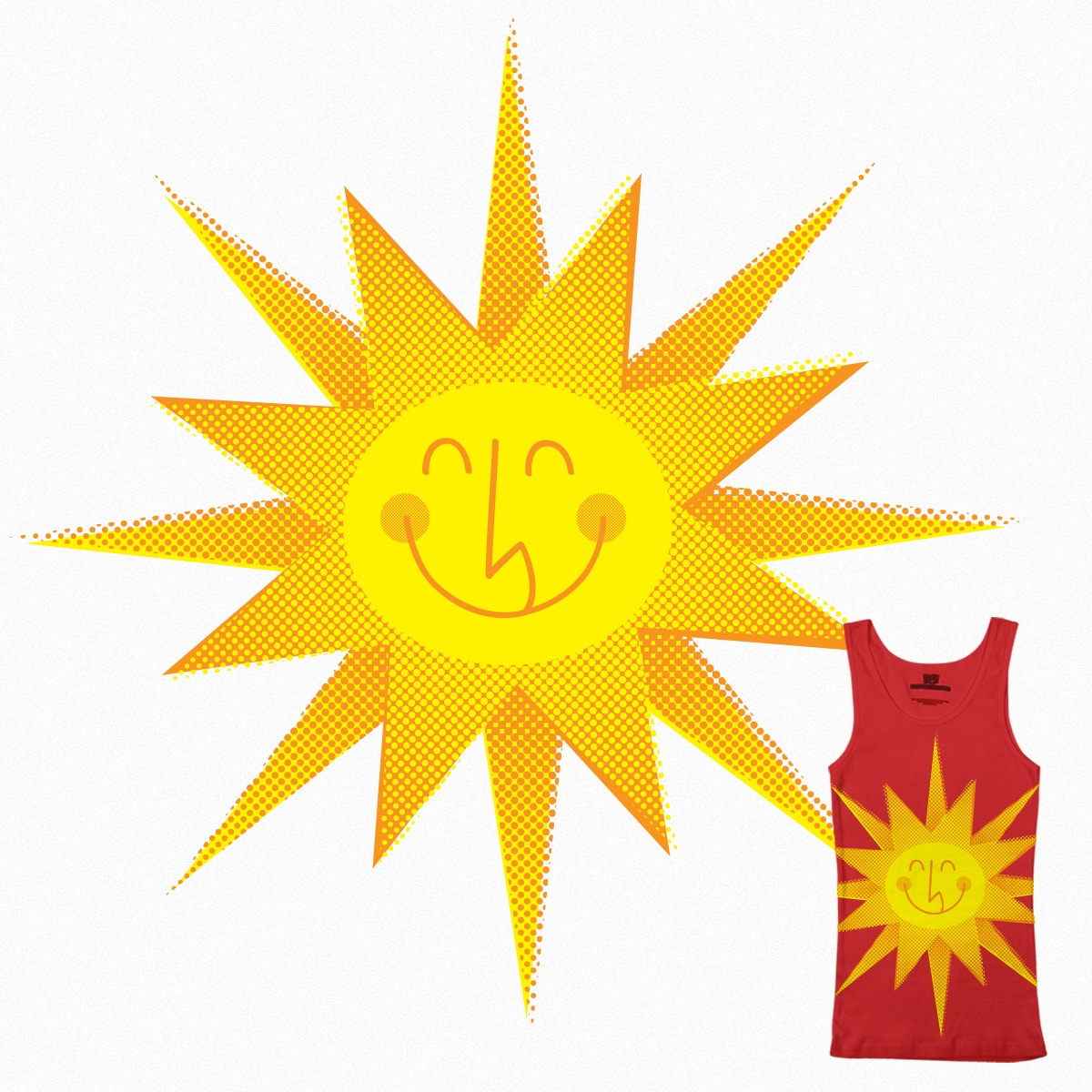 The Smiling Sun by Firehat45 on Threadless