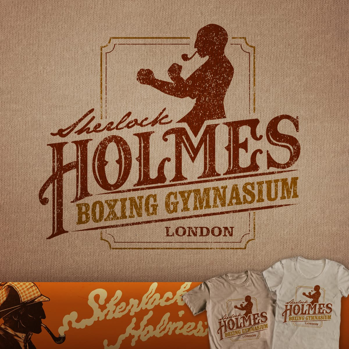 Sherlock Holmes Boxing Gymnasium by CoryFreeman on Threadless