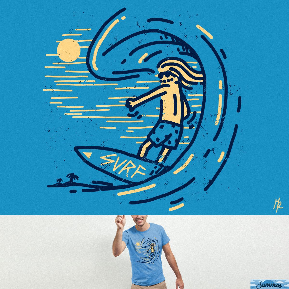 Surfin' guy by micheleficeli on Threadless