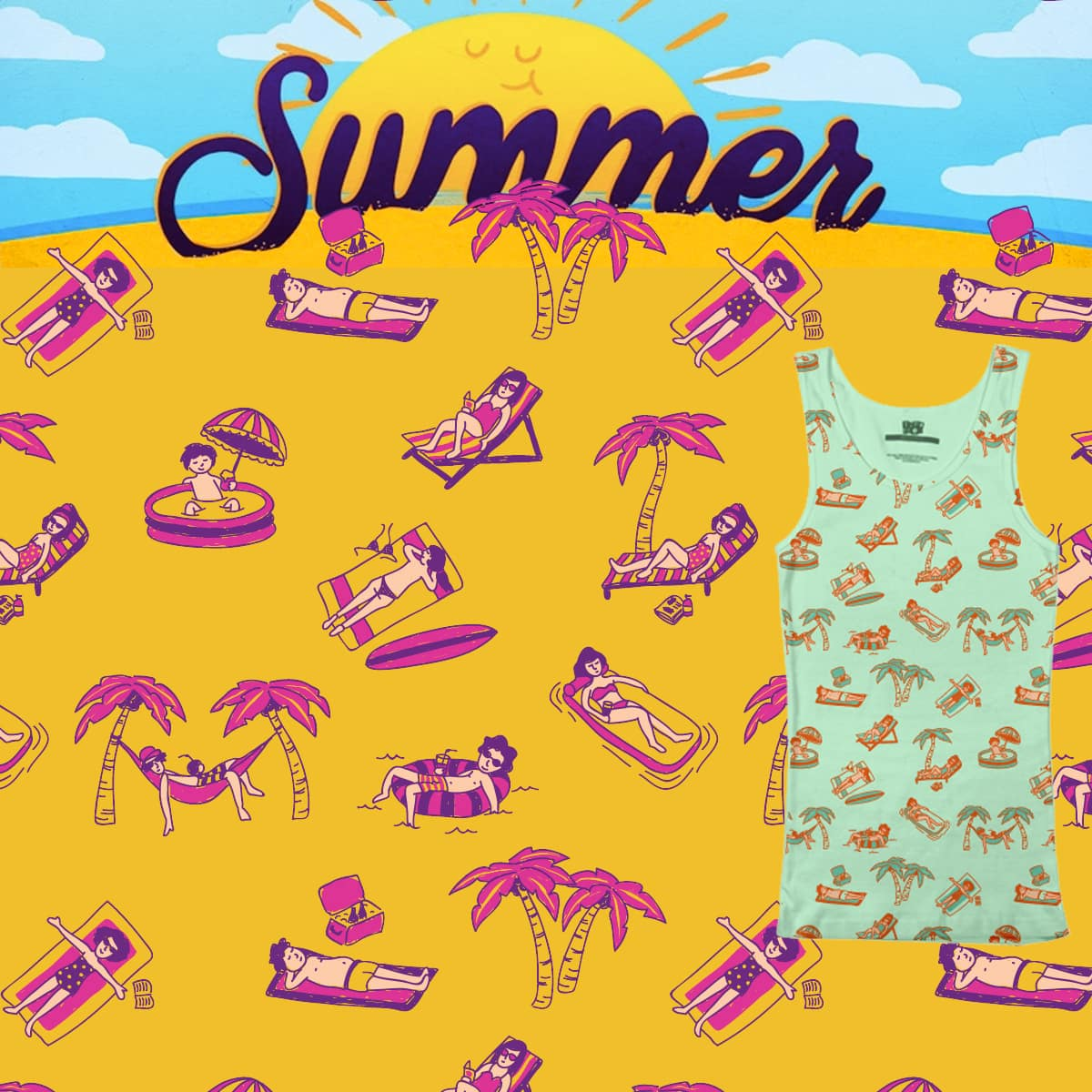 Summertime by Soffronia on Threadless