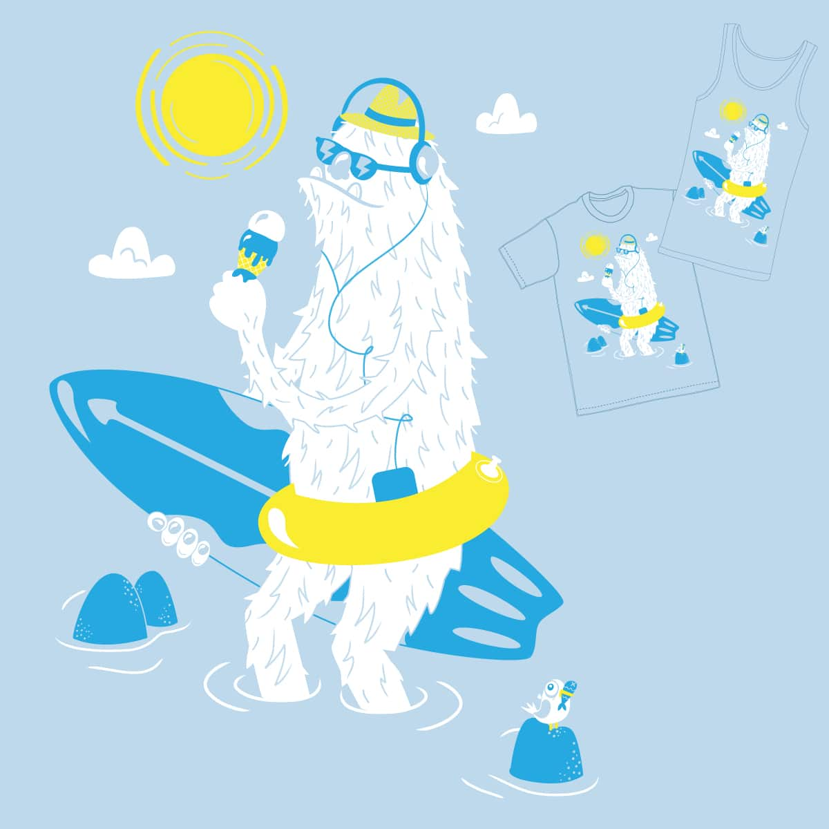 Seasquatch by tratinchica on Threadless
