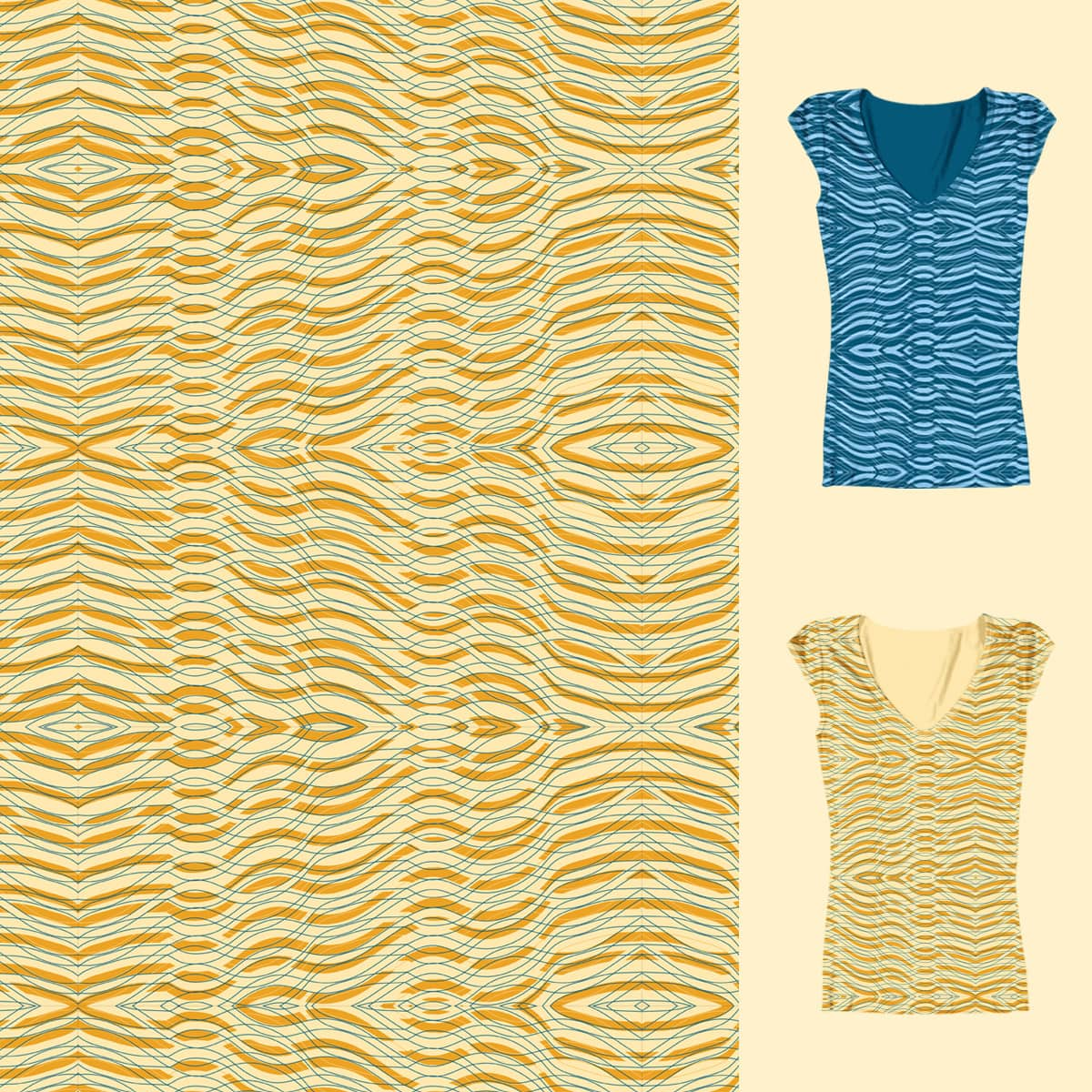 Summer Waves by leleprates on Threadless
