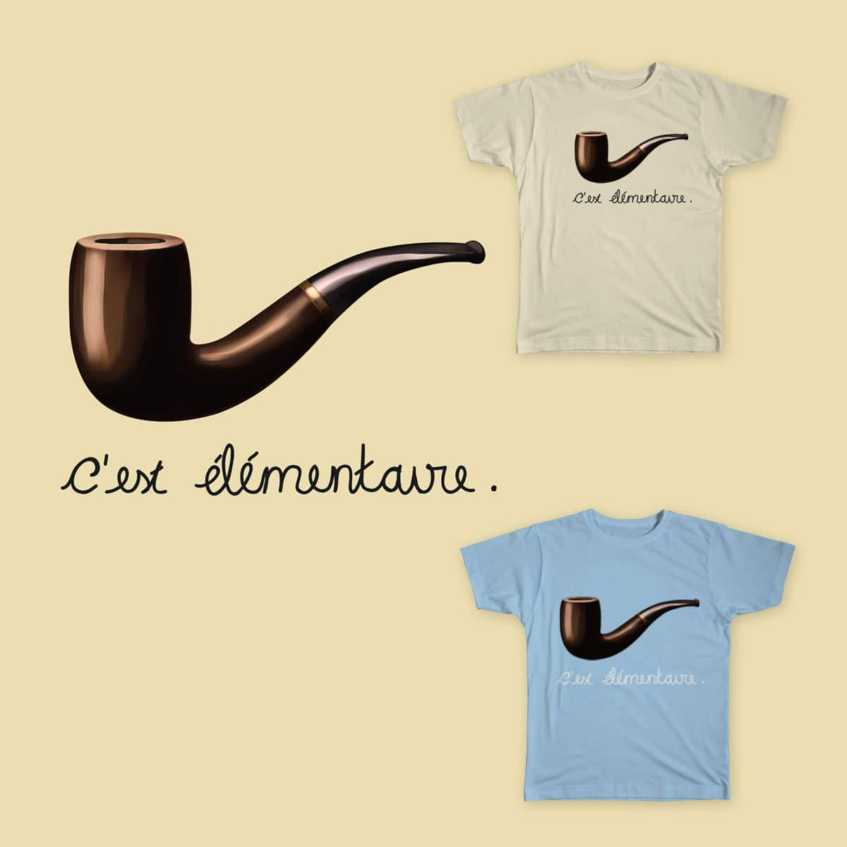 C'est élémentaire by Willian_Richard and tobiasfonseca on Threadless