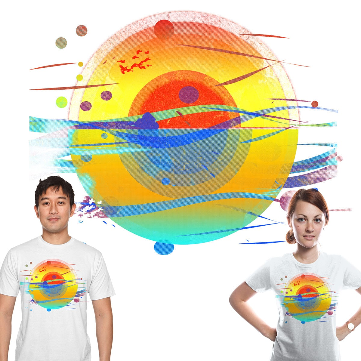 here comes the sun v2 by kharmazero on Threadless