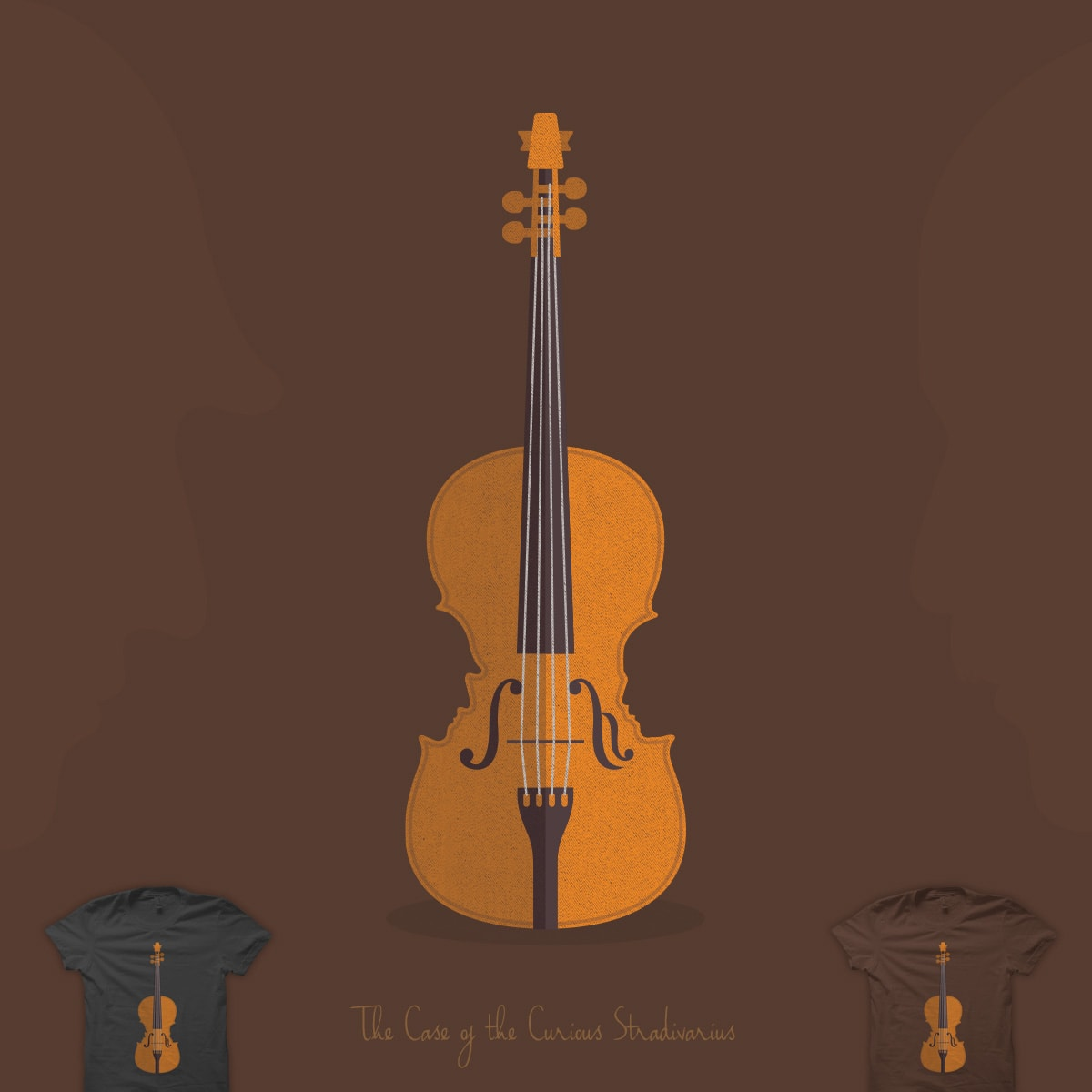 The Case of the Curious Stradivarius by quick-brown-fox on Threadless