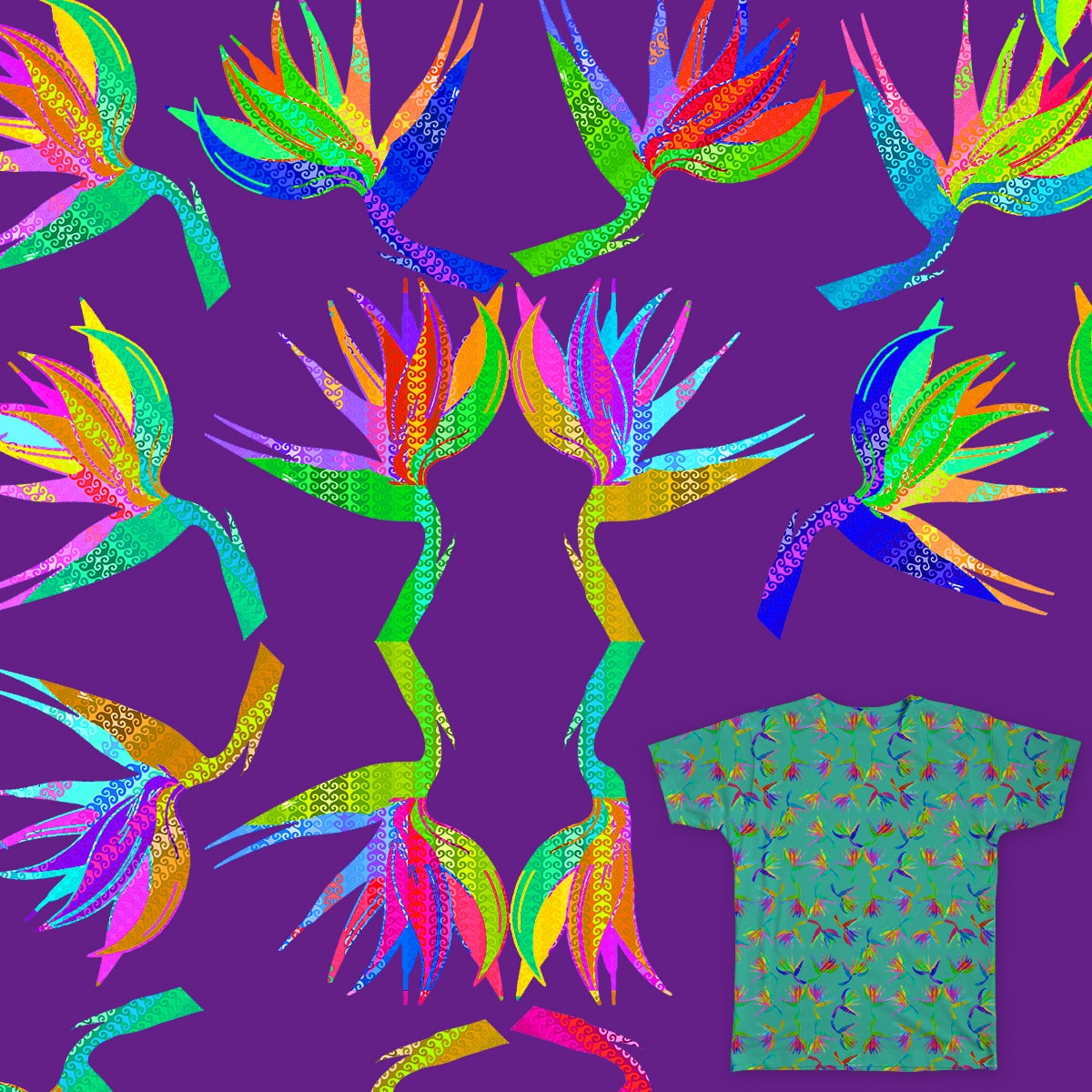 Birds of Paradise  by bobogalvan on Threadless